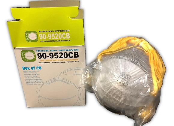 Carbon Filter N95 Masks, 20/box from Major