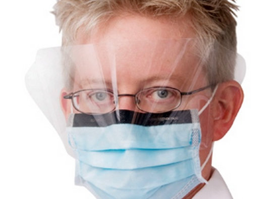 Surgical Mask with Eye Shield Fits Children - 6 Pieces
