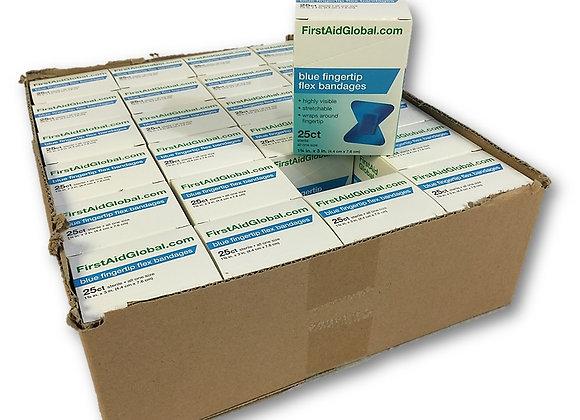 Blue Fingertip Flex Bandages Case