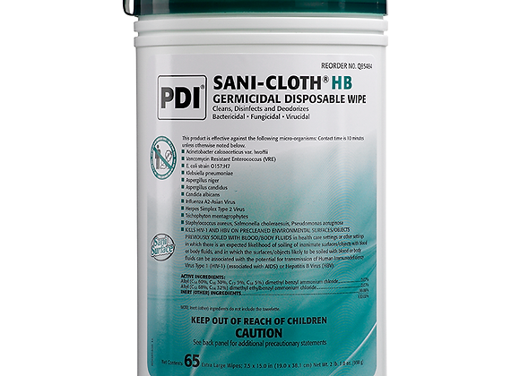 PDI Sani-Cloth HB Germicidal Wipes 65-Count