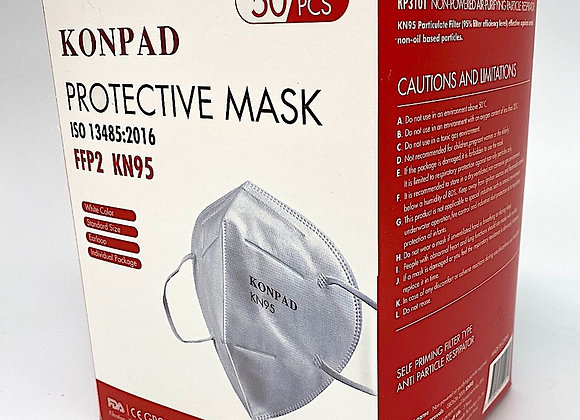Best-Fitting KN95 Respirator Mask with Earloops