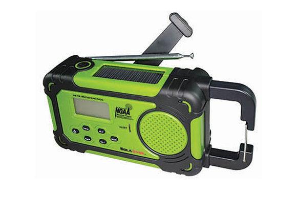 SolaDyne Emergency NOAA Alert Solar & Hand-Crank Radio & Flashlight - Green