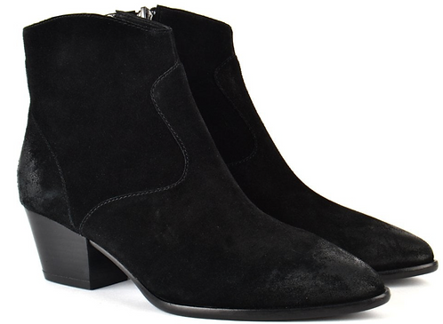 Ash - Heidi Black Suede Boot