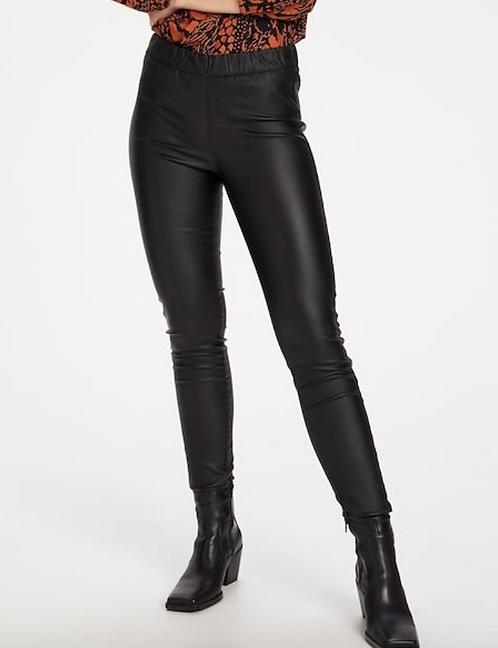 Kaffe - Black Faux Leather Leggings