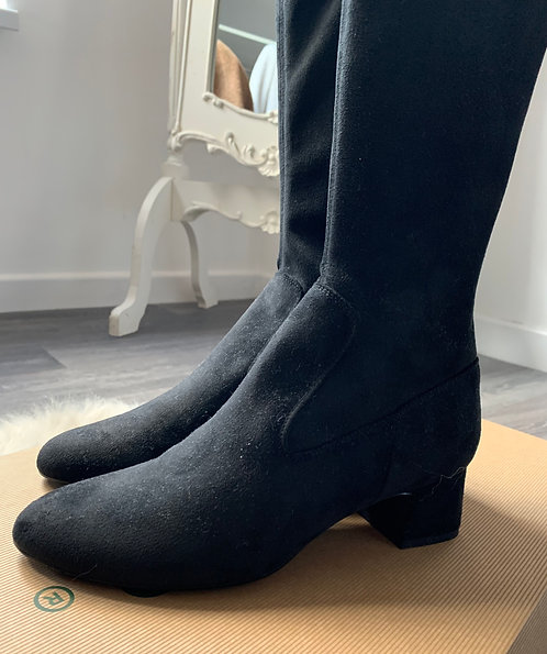Unisa - Lonja Black Suede Boot