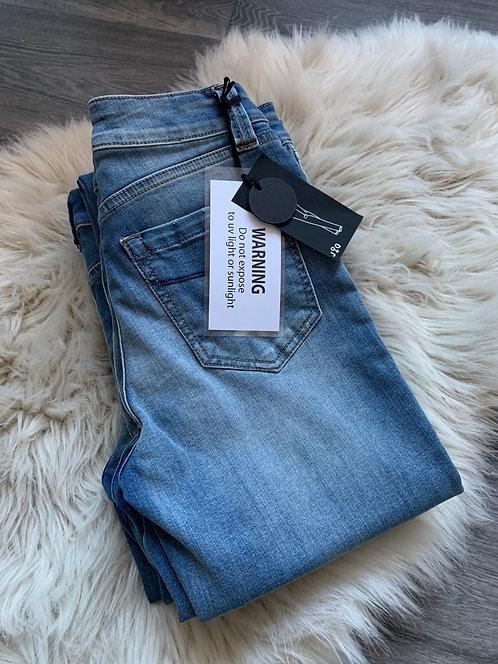 JQ-Cathrine - Old Stone vintage Silm Leg Jeans
