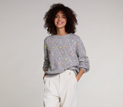 Oui - Jumper with little hearts