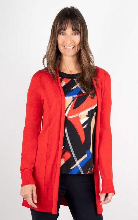 Sandwich - Clothing Red Fine Knit Cardigan