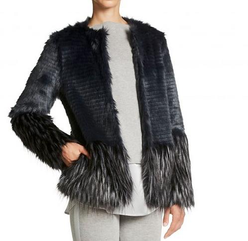 Oui - Nightsky Faux Fur Coat