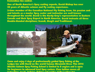Spey / Salmon fishing course at the Ledges inn on the Miramichi River