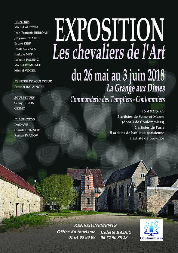 Collective exhibition the Knights of Art 2018 La Grange aux Dîmes Commanderie des Templiers - Coulommiers with Rosen Ivanov