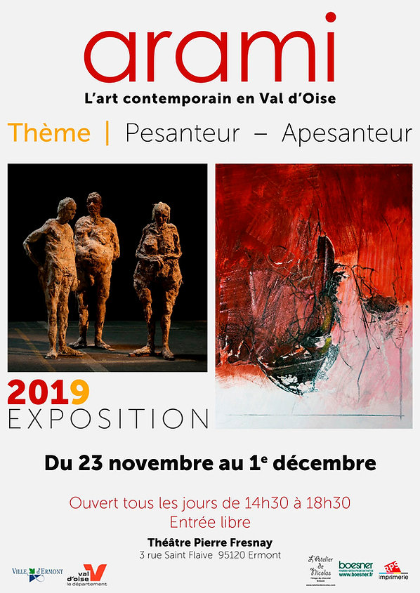 Collective Exhibition Contemporary Art in Val d'Oise Theme Pesanteur - Weightlessness ARAMI 2019 in Ermont 95120
