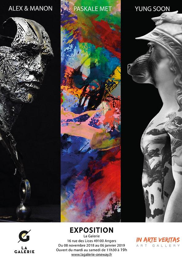 Monographic Exhibition Paskale MET Angers 2018 2019 Gallery One Way and In Arte Veritas Art Gallery