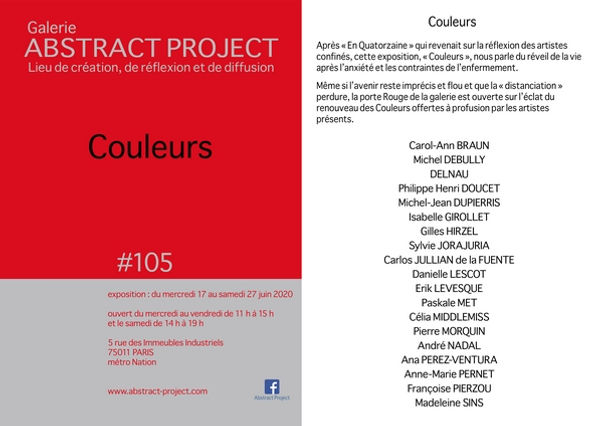 Exhibition Art Gallery Abstract Project Paris 2020 Colors # 105
