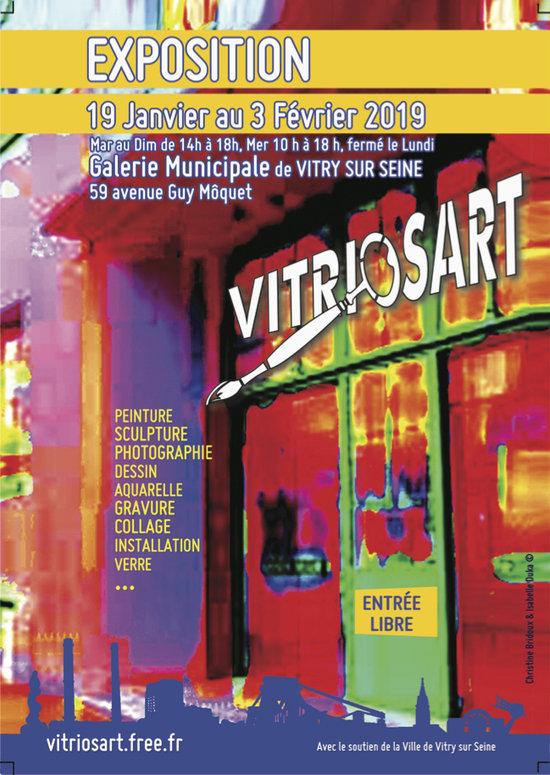 Collective Exhibition Vitriosart 2019 Painting Vitry Sur Seine
