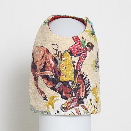 1950's Western Cowboy barkcloth dog vest #2