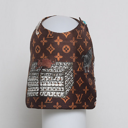 Louis Vuitton Grace Coddington brown silk vest #8
