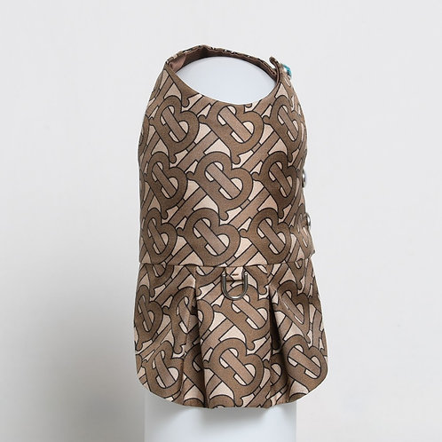 Burberry bridle brown silk dress