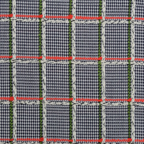 Bespoke Blue and White Check with Red and Green