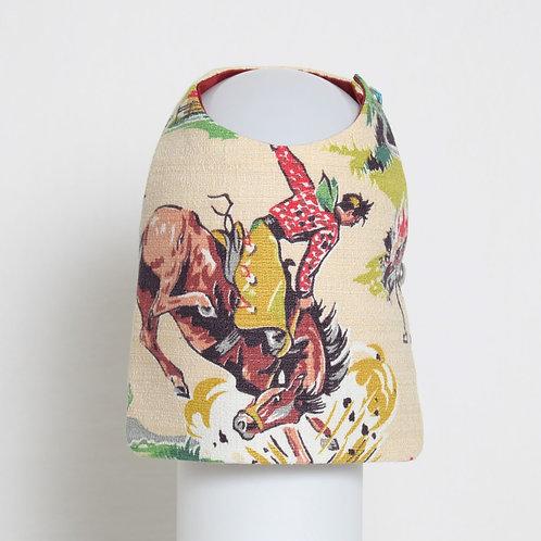 1950's Western Cowboy barkcloth dog vest #3