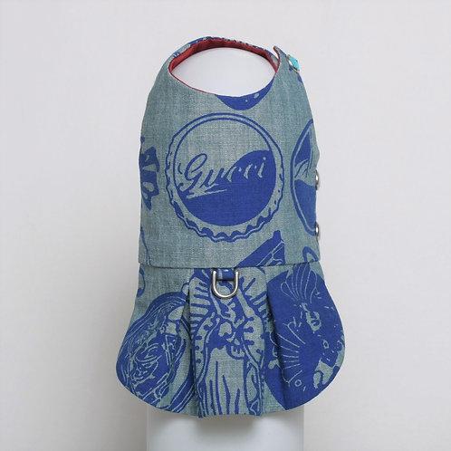 Gucci blue on blue denim dress #8
