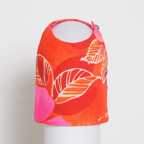 1960's Neon Hibiscus dog vest #1