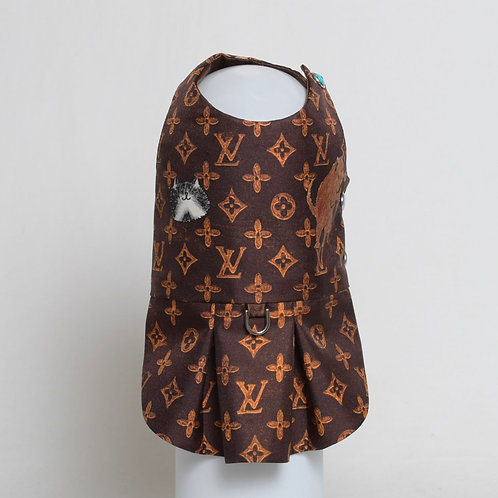 Louis Vuitton Grace Coddington brown silk dress #2