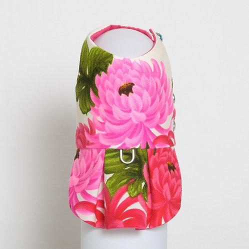 1960's Pink Chrysanthemum Kiku dog dress #2