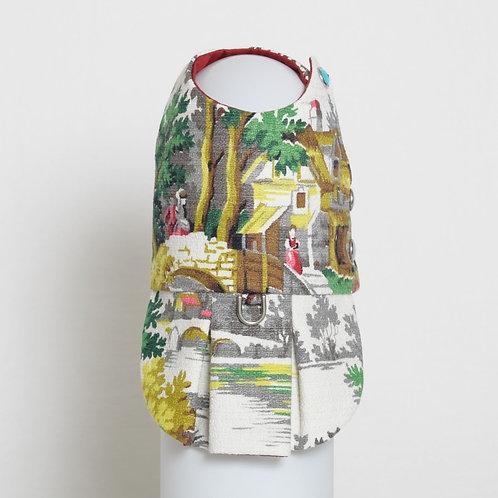 1950's Countryside barkcloth dog dress #3