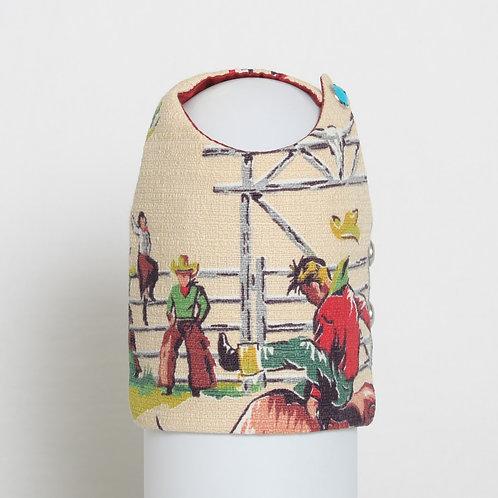 1950's Western Cowboy barkcloth dog vest #1