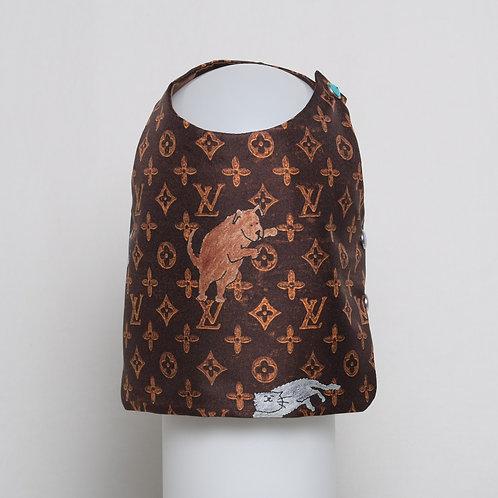 Louis Vuitton Grace Coddington brown silk vest #9