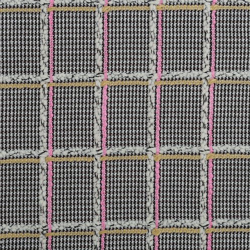 Bespoke Black and White Check with Pink and Gold