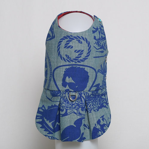 Gucci blue on blue denim dress #9