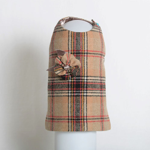 Wool Plaid with Matching Flower