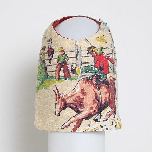 1950's Western Cowboy barkcloth dog vest #4