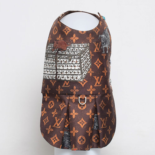 Louis Vuitton Grace Coddington brown silk dress #5