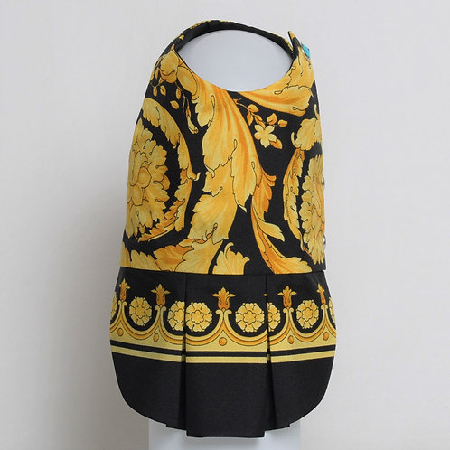 Versace Baroque Heritage gold and black silk dress #6
