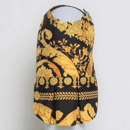 Versace Baroque Heritage gold and black silk dress #1