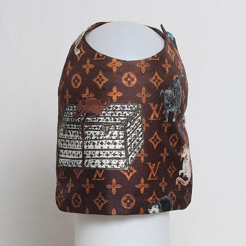 Louis Vuitton Grace Coddington brown silk vest #4