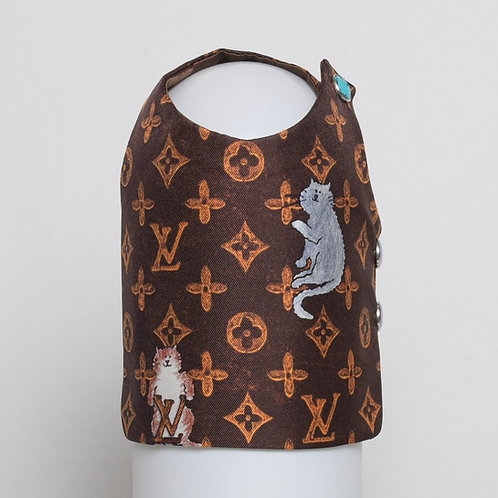 Louis Vuitton Grace Coddington brown silk vest #7