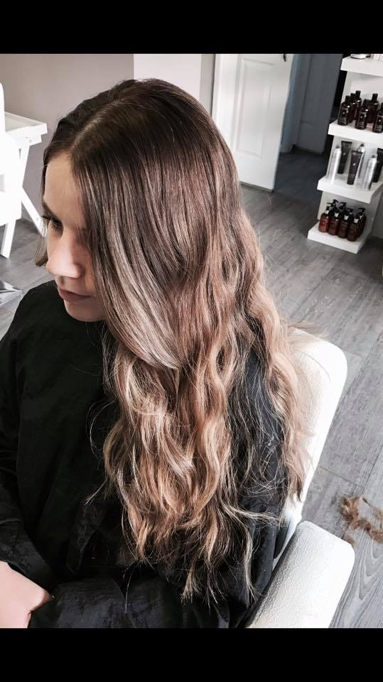 natural ombre on a girl
