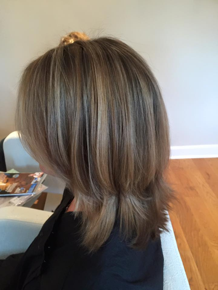 a lady with beautiful highlights