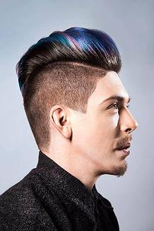mens fashion hair cut and colour