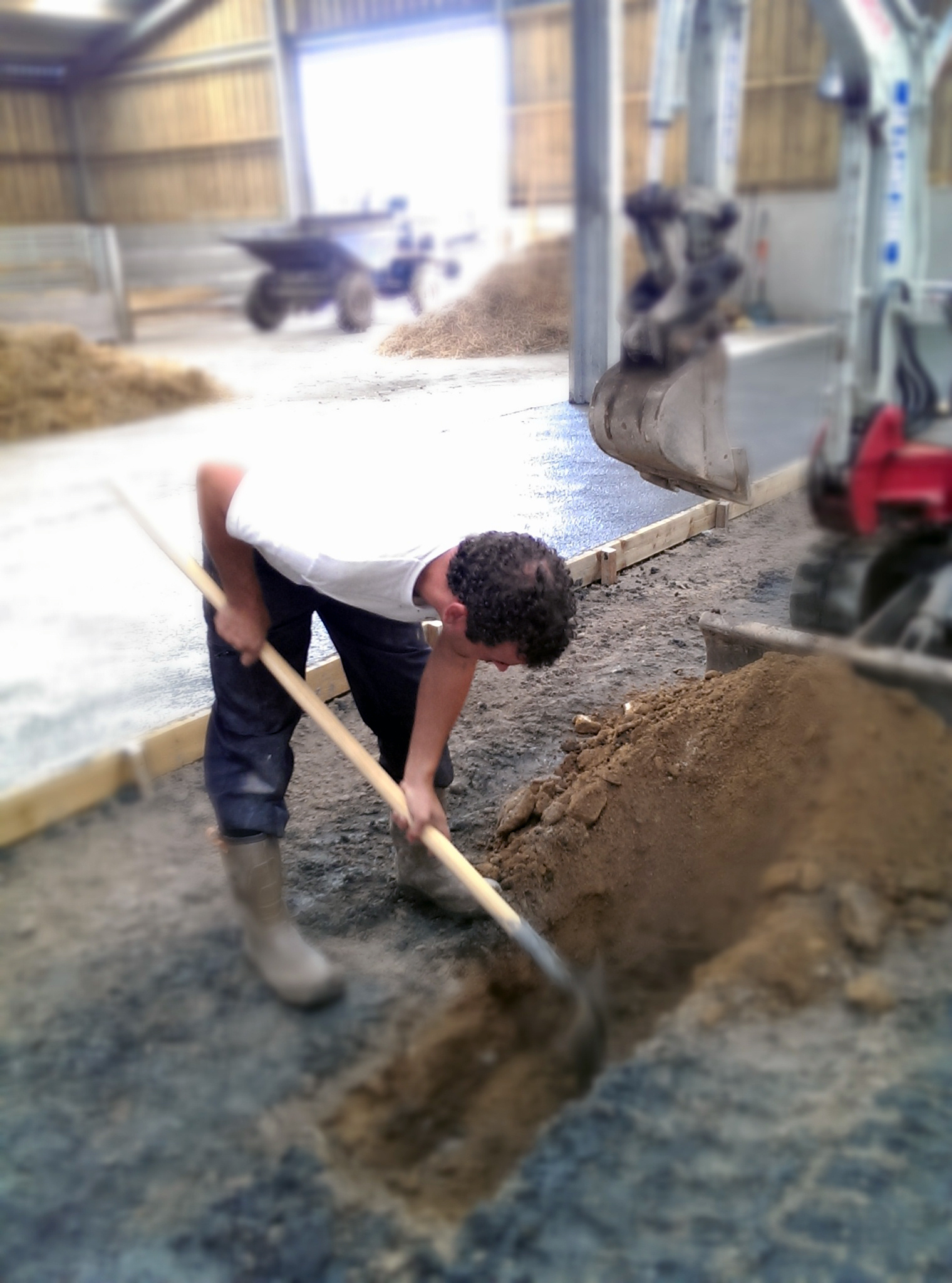man digging the ground