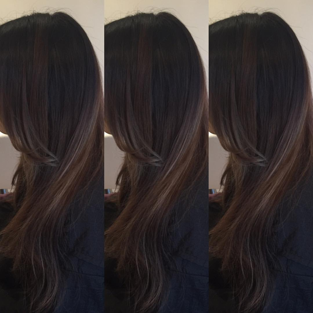 beautiful balayage on brown hair
