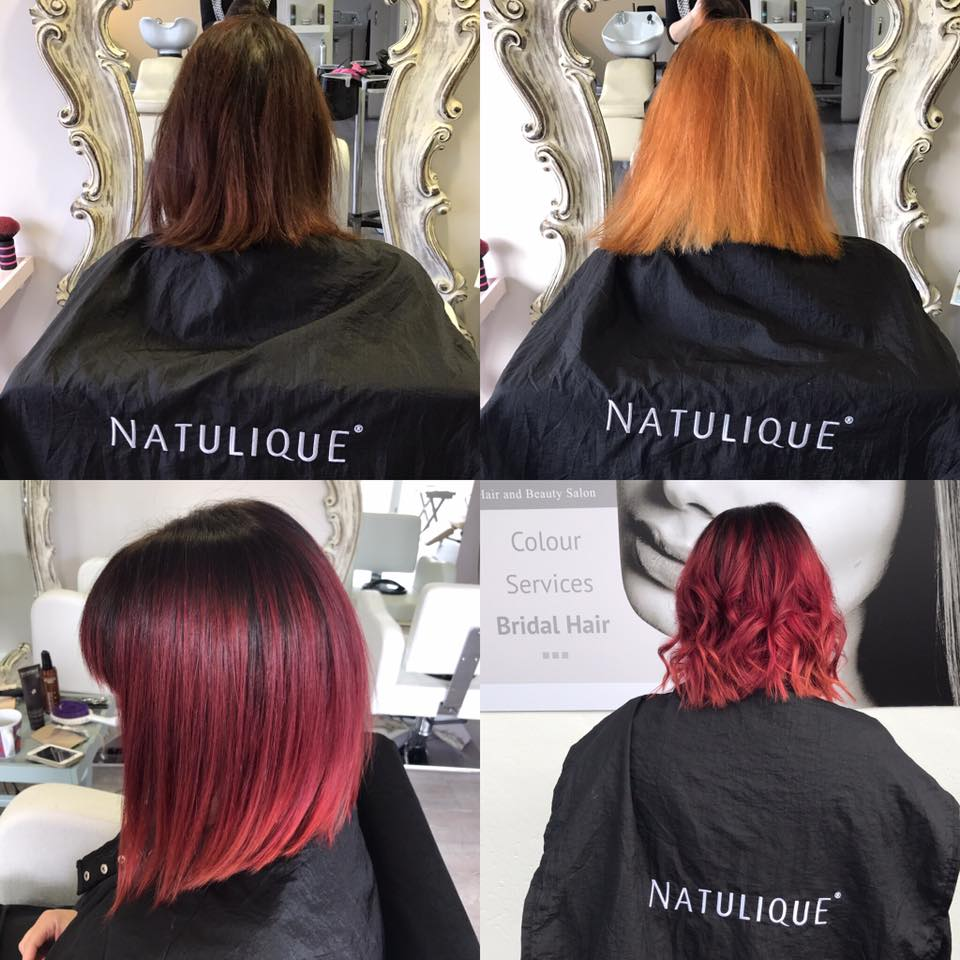 ladies red ombre bob