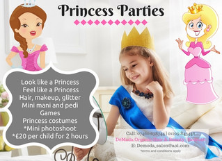 Princess Pamper Parties for Children