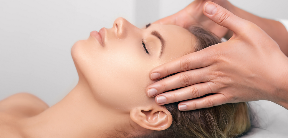 dermaplaning facial woman