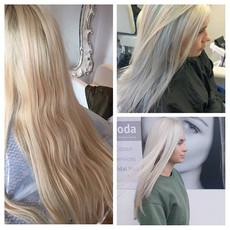 #beforeandafter #bleachblonde #hairtrans
