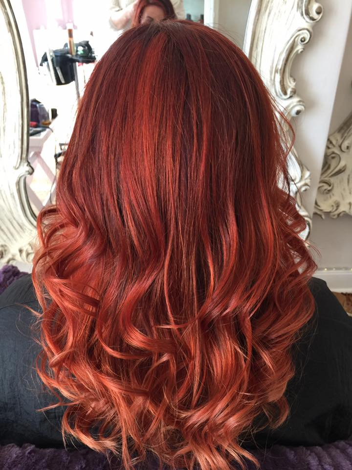 vibrant red copper hair